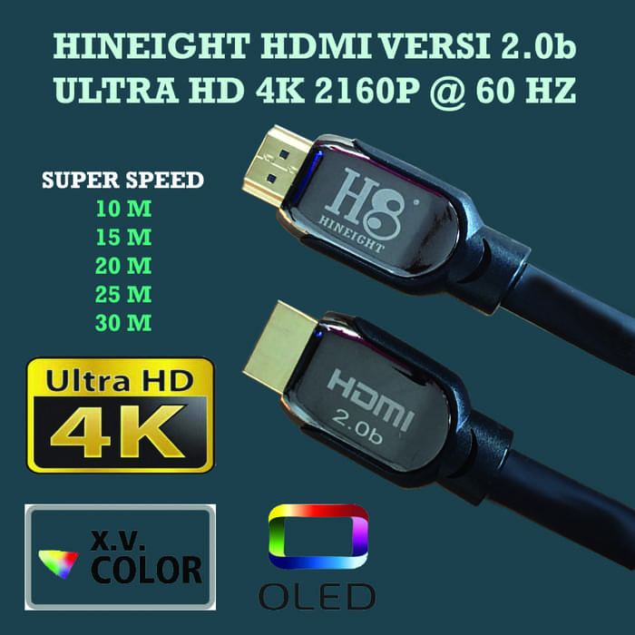 Kabel HDMI To HDMI V2.0b UHD 4K 10 Meter (HINEIGHT(H8))