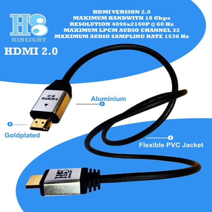 Kabel HDMI To HDMI V2.0 UHD 4K 8 Meter(HINEIGHT(H8))