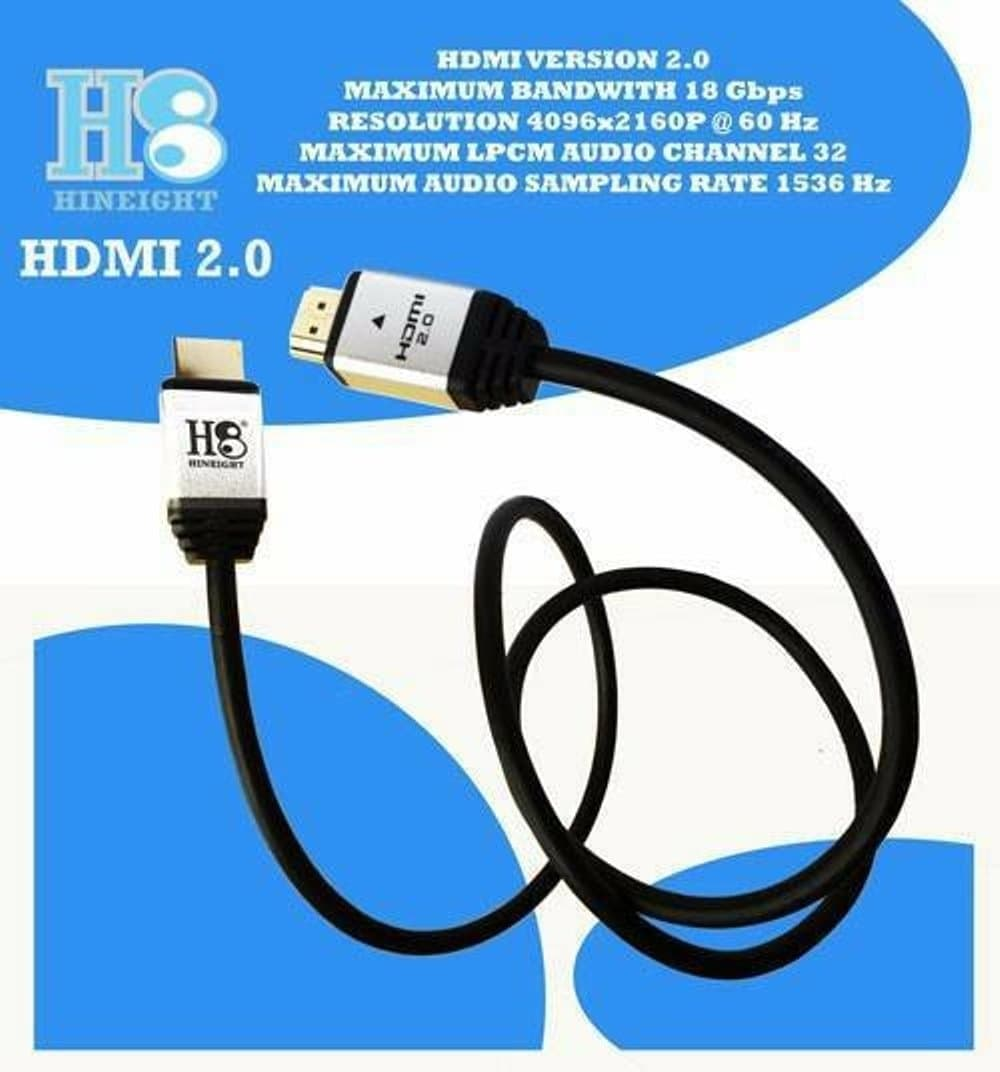 Kabel HDMI To HDMI V2.0 3D 4K 1 Meter (HINEIGHT(H8))