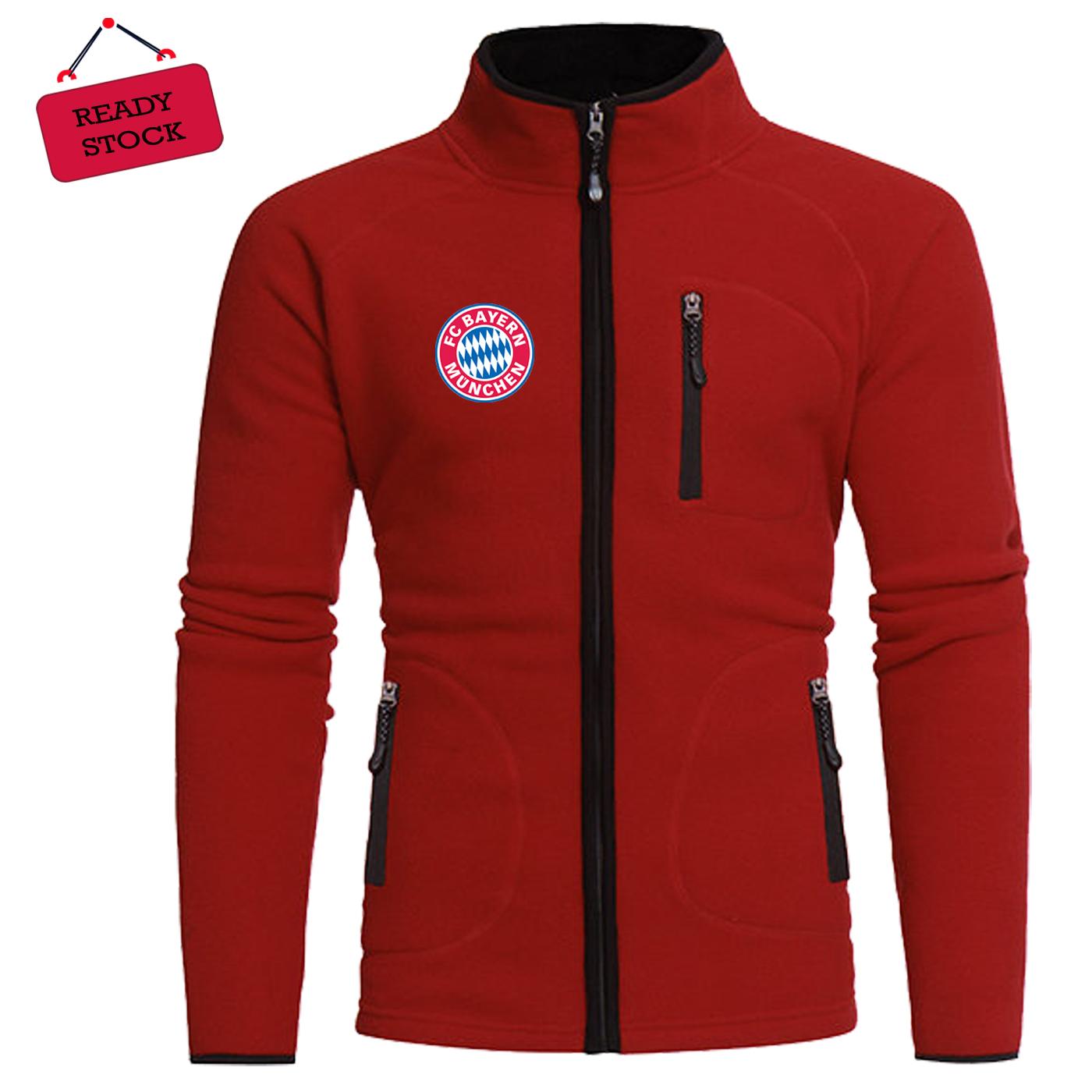 Jual Jaket Sweater Hoodie Merah Bayern Munchen Kota Bandung Spot Sport Tokopedia