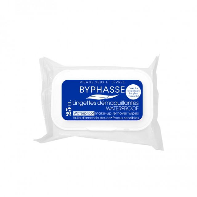 Byphasse Make-Up Remover Waterproof Wipes Sensitive Skin 25U. thumbnail