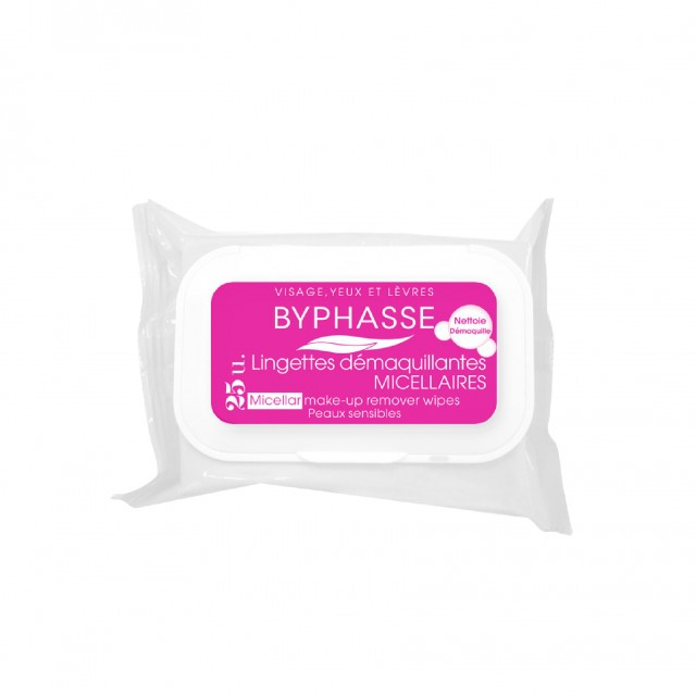 Byphasse Make-Up Remover Wipes Micellar Solution Sensitive Skin 25U. thumbnail