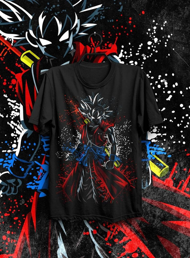 Kaos Dragon Ball Goku Red Putih Xl