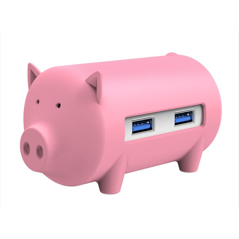 Orico USB HUB H4018-U3 3 Port With Card Reader (Little Pig)