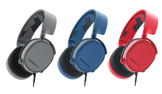 Steelseries Arctis 3 With 7.1 DTS Headphone:X Solar Red/Boreal Blue/Slate Grey