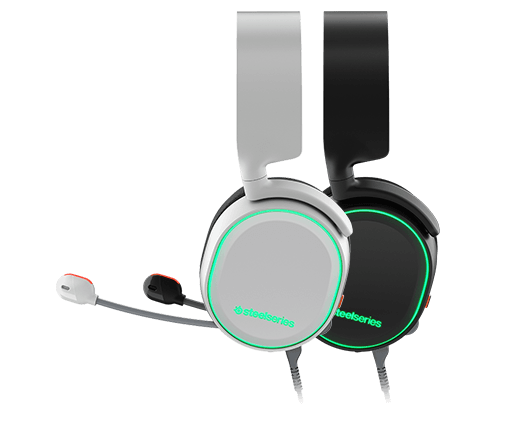 Steelseries Arctis 5 With 7.1 DTS Headphone:X Black RGB - Black/ White