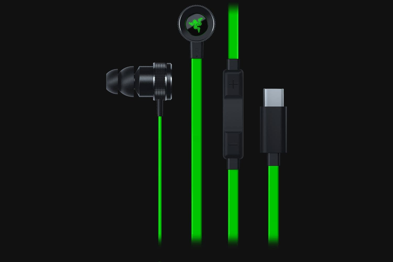 Razer Hammerhead USB-C - Digital Gaming & Music In-Ear Headset - AP Packaging