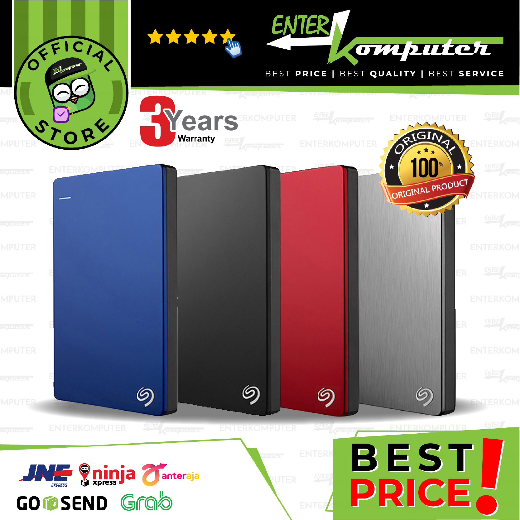 Seagate Backup Plus SLIM Edition 1TB USB 3.0