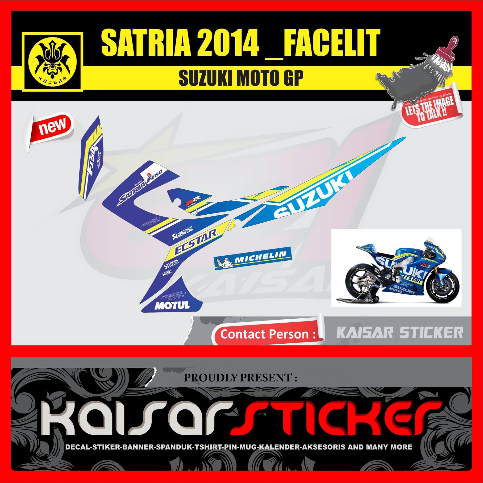 Jual sticker striping motor sticker suzuki satra facelift 2014