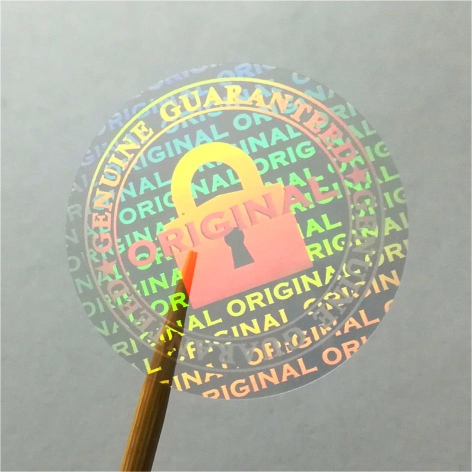Jual custom transparent hologram sticker printing warranty void
