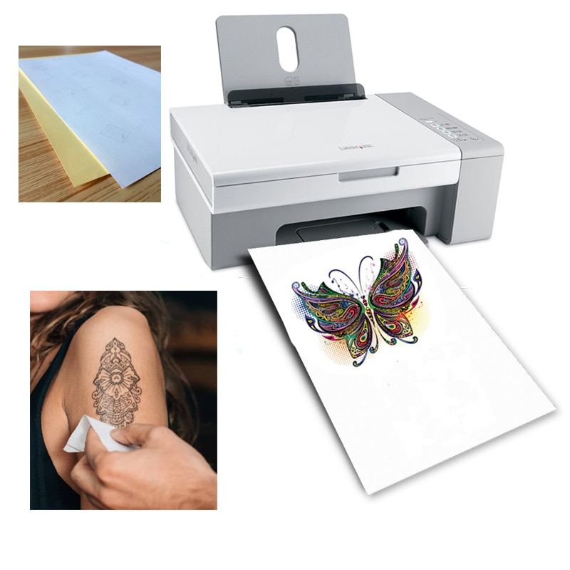 picture regarding Printable Tattoo Paper named Jual A4 Tattoo Paper Do-it-yourself On your own Non permanent Tattoo Paper