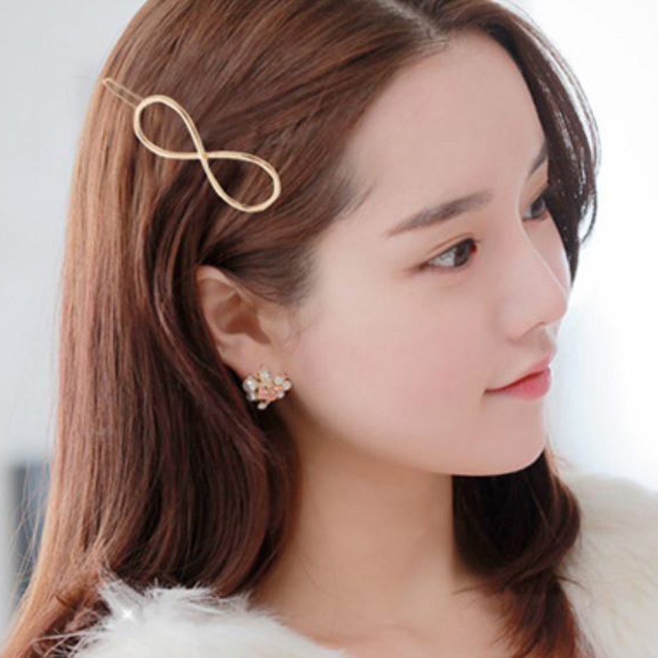 jepit rambut infinite hair clip jje038 - gold thumbnail
