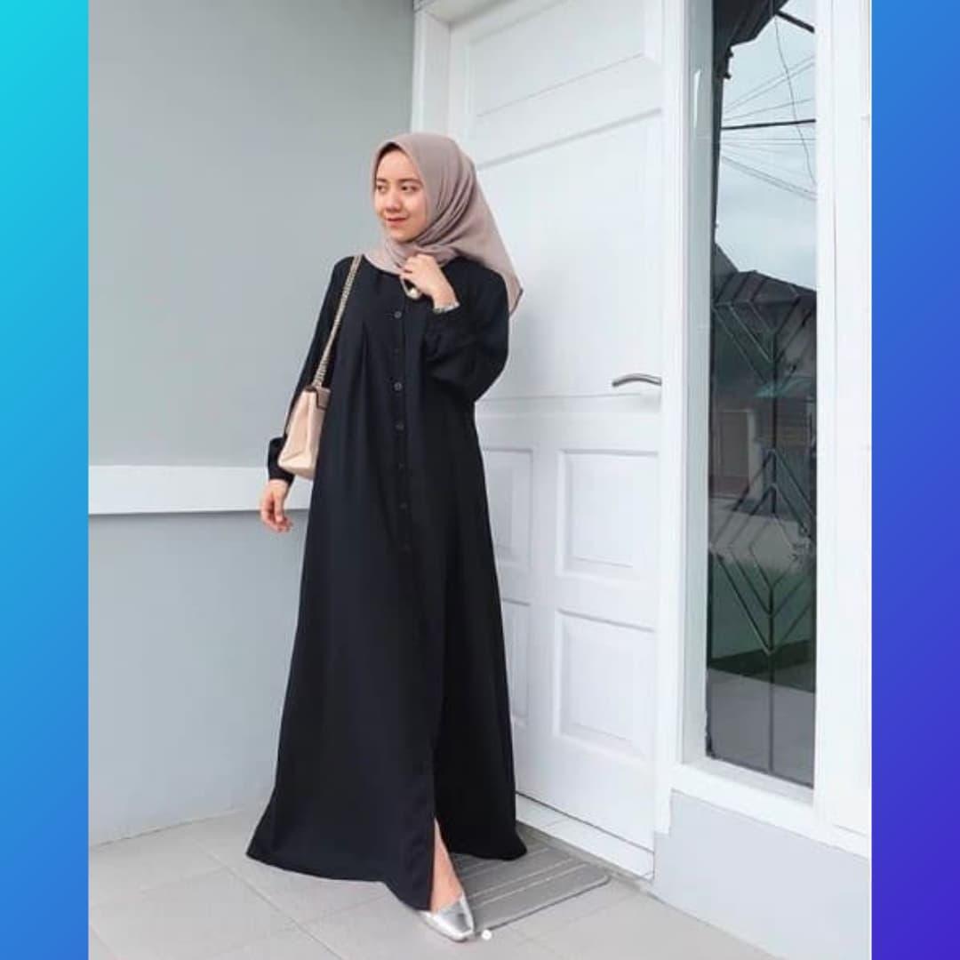 Jual baju muslim wanita dress pesta jumbo abaya blouse gamis
