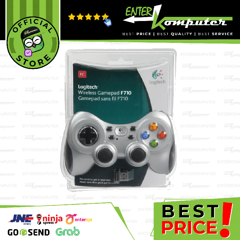 Logitech F710 Gamepad - (Vibrate, Wireless) - Promo Limited!!!