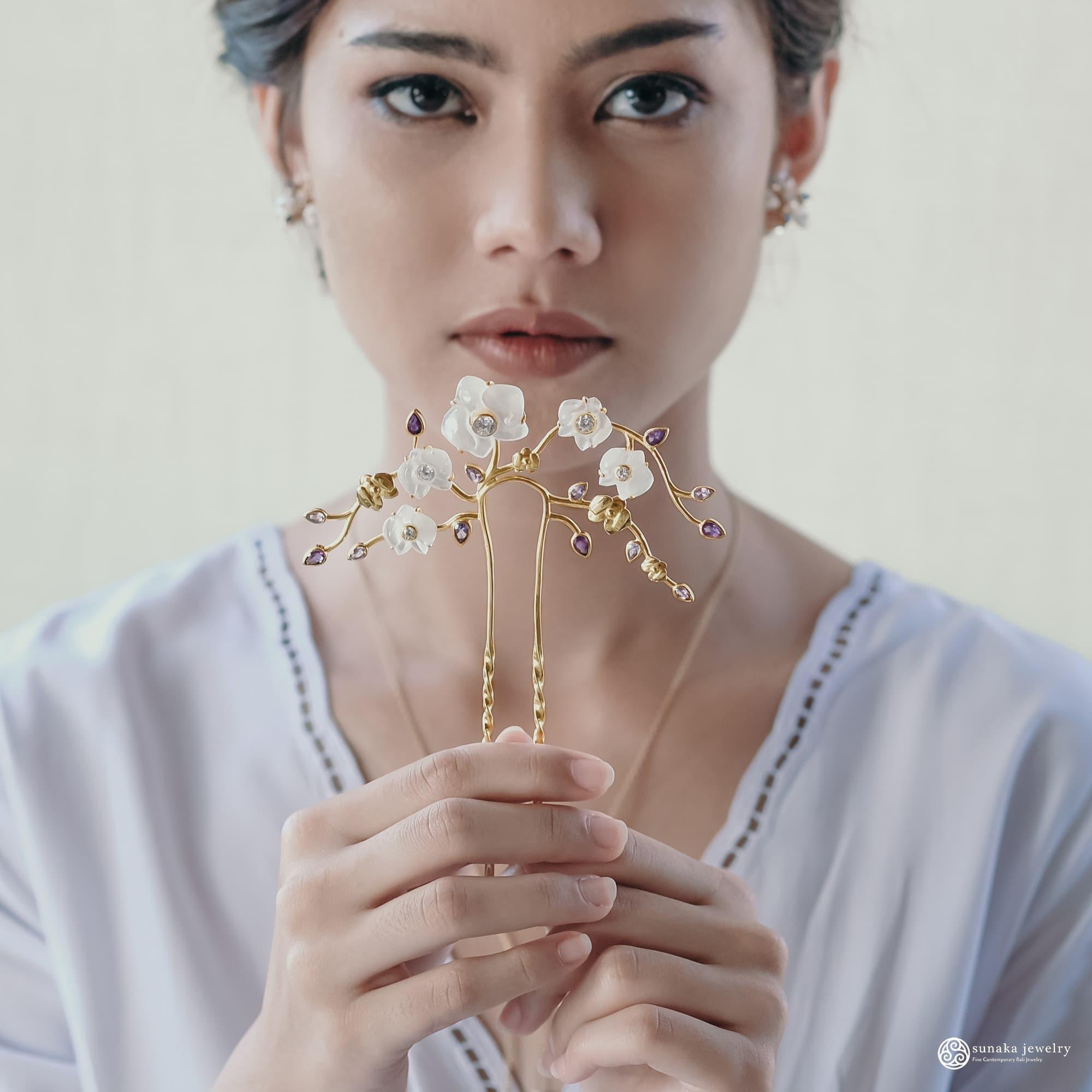 Hairpiece Tusuk Rambut Koleksi Anggrek by Sunaka Jewelry 3