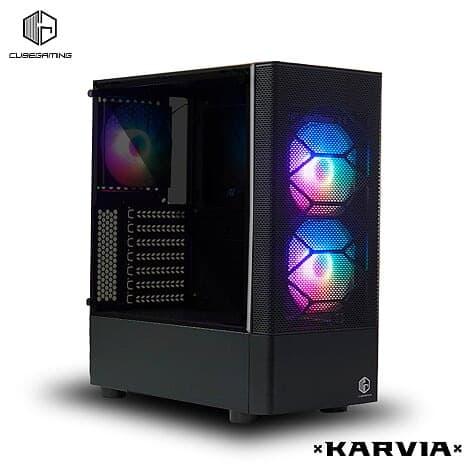 CUBE GAMING KARVIA - ATX - SIDE TEMPERED GLASS - PSU COVER - FREE 3 PCS RAINBOW RGB FAN