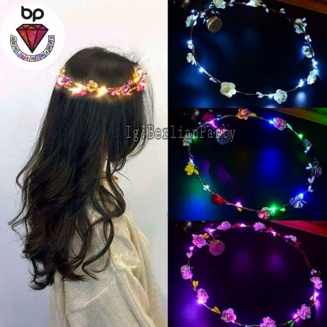 Bando Mahkota Bunga flower crown flower crown LED thumbnail