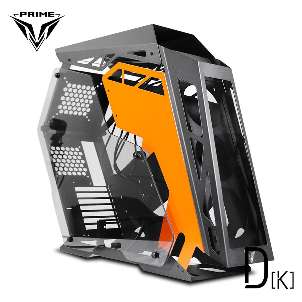 PRIME D-[K] - ALUMUNIUM GAMING CASE - DUAL SIDE TEMPERED GLASS
