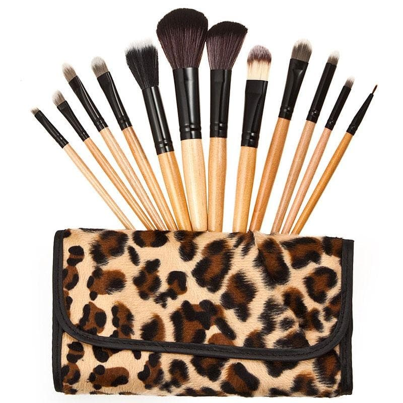 Leopard Lovers Make Up Brush Profesional Set - 12 Motif Leopard thumbnail