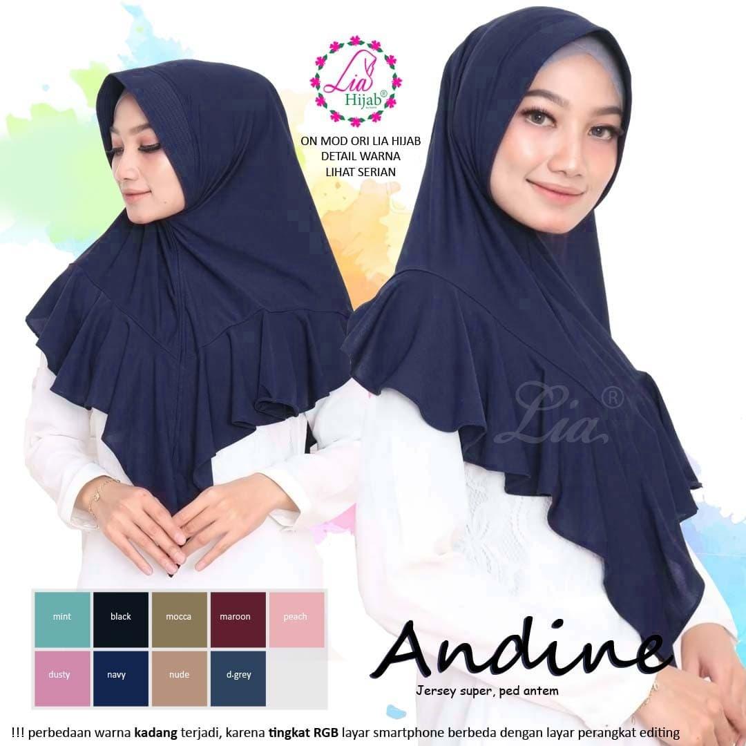 Jual Hijab instan cantik terbaru, jilbab instant - Andini - Kota