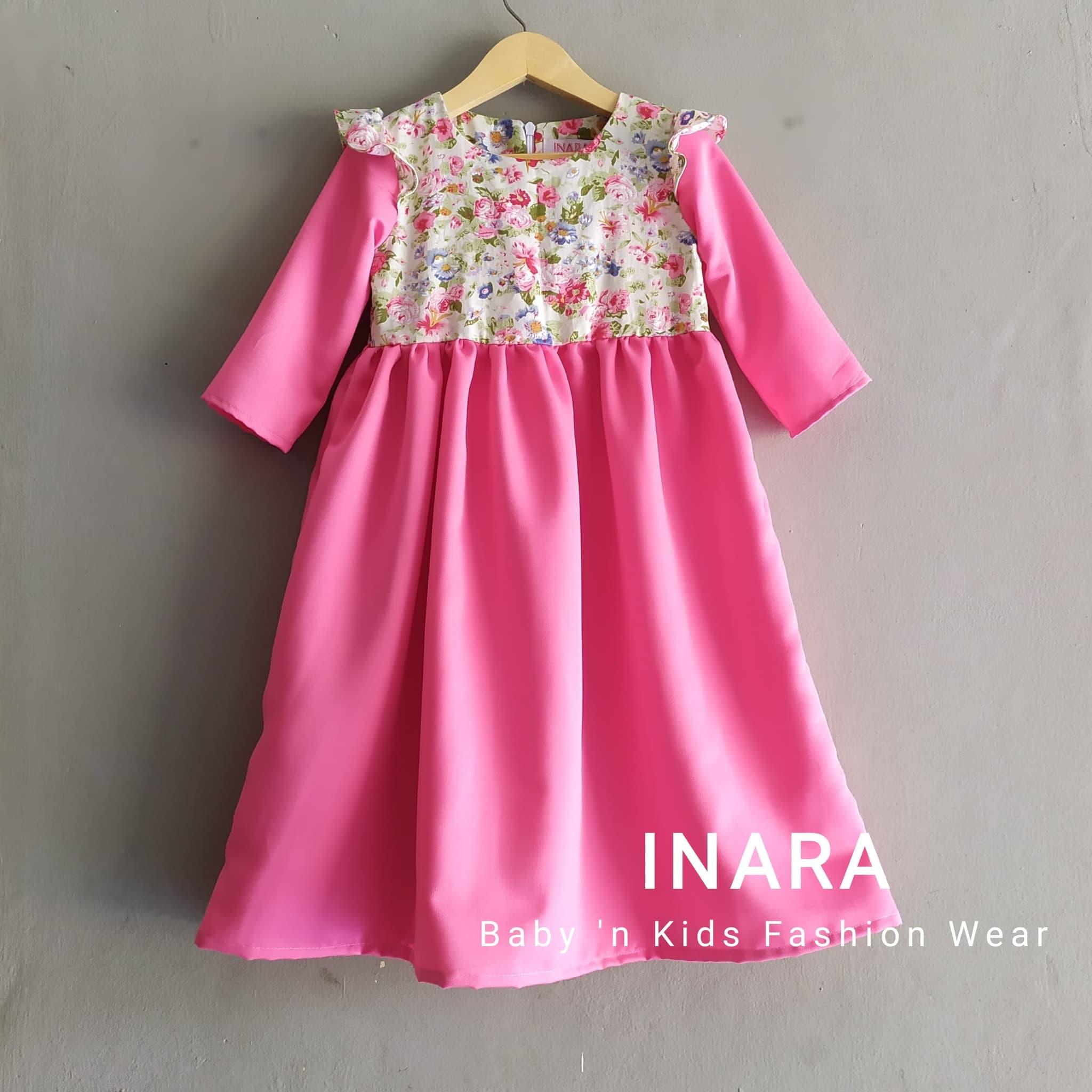 Jual Baju gamis anak floral - Size 8-8 Tahun - Kab. Tangerang