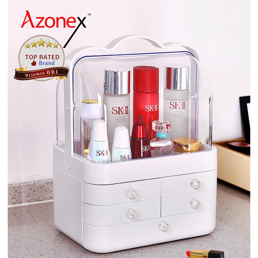 Beauty Case Kosmetik Acyrylic Tas Make Up Pouch Kotak Kosmetik - Putih thumbnail