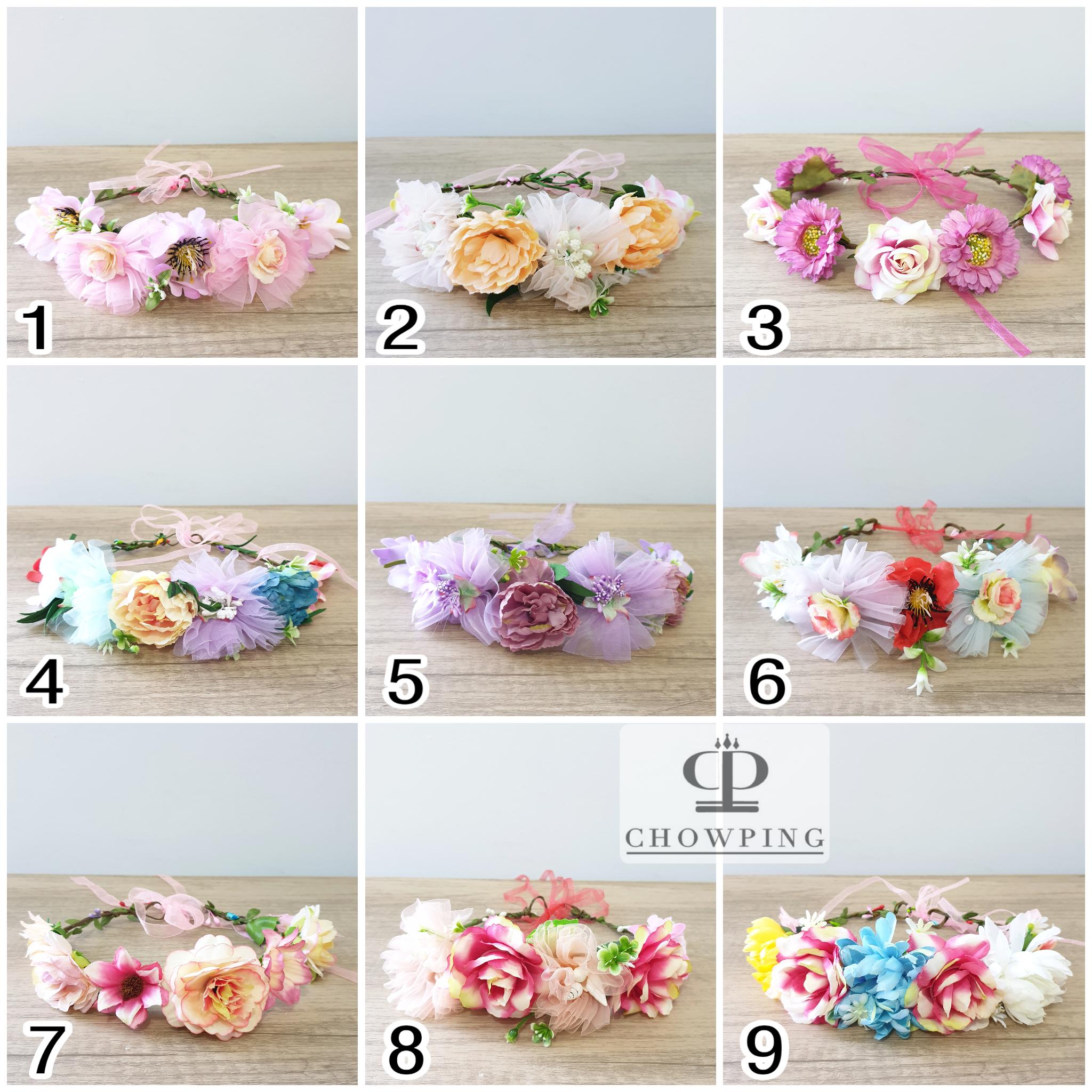 Mahkota Bunga Bando Mahkota Flower Crown PREMIUM thumbnail
