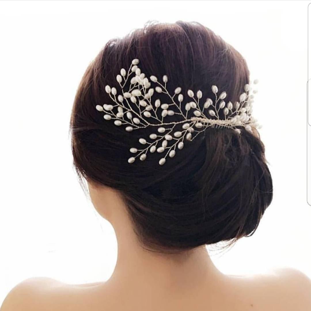 Bride wedding hair accesories kode AR03 mutiara bridal hair thumbnail