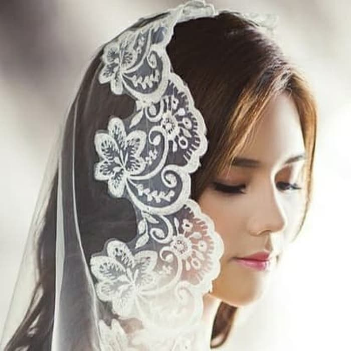 Kerudung wedding veil pernikahan 1,5 meter thumbnail