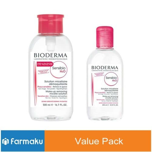 Value Pack Bioderma Sensibio H2O Pump 500 Ml + 250 Ml thumbnail