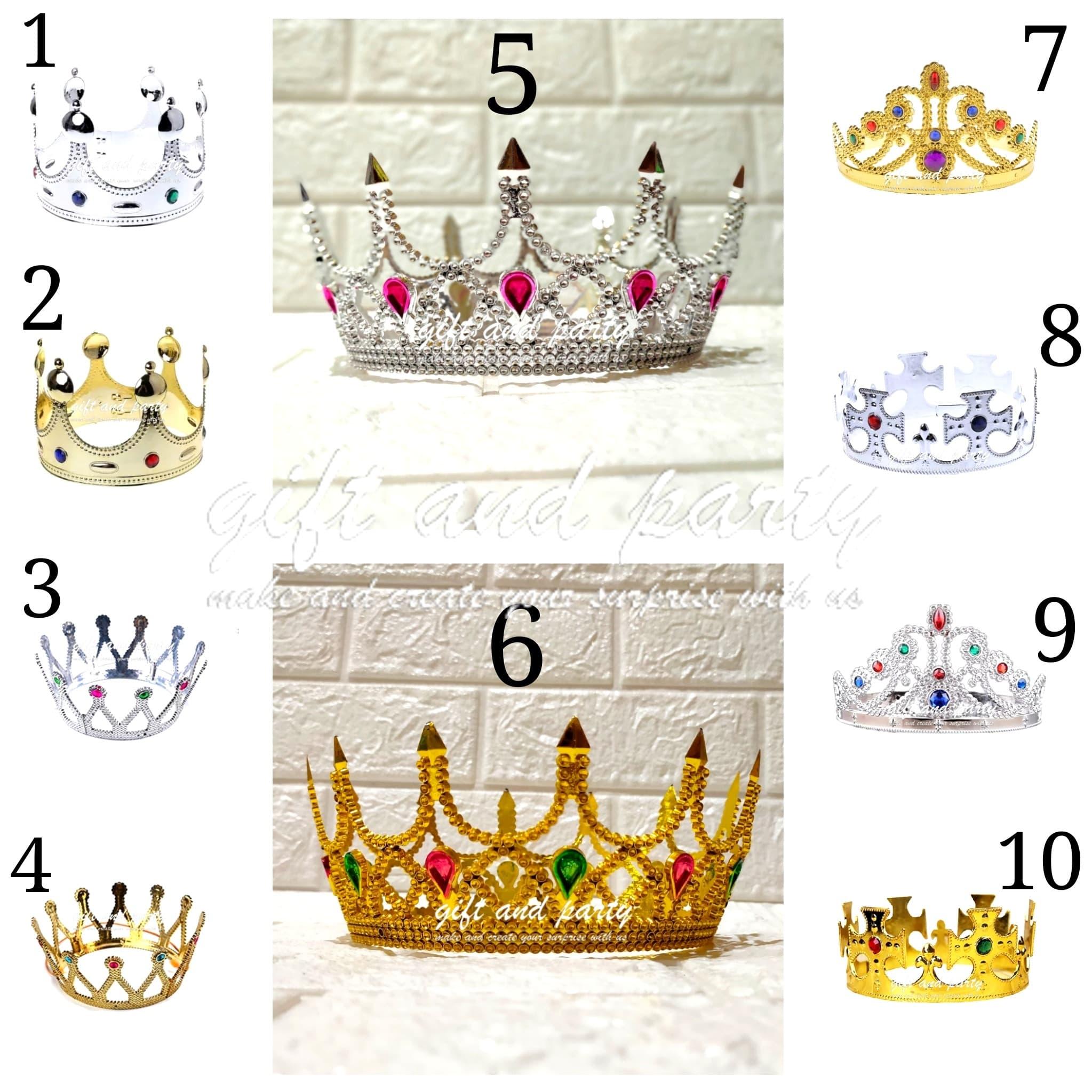 Mahkota Pesta Crown Party Headpiece Crown King Queen Crown thumbnail