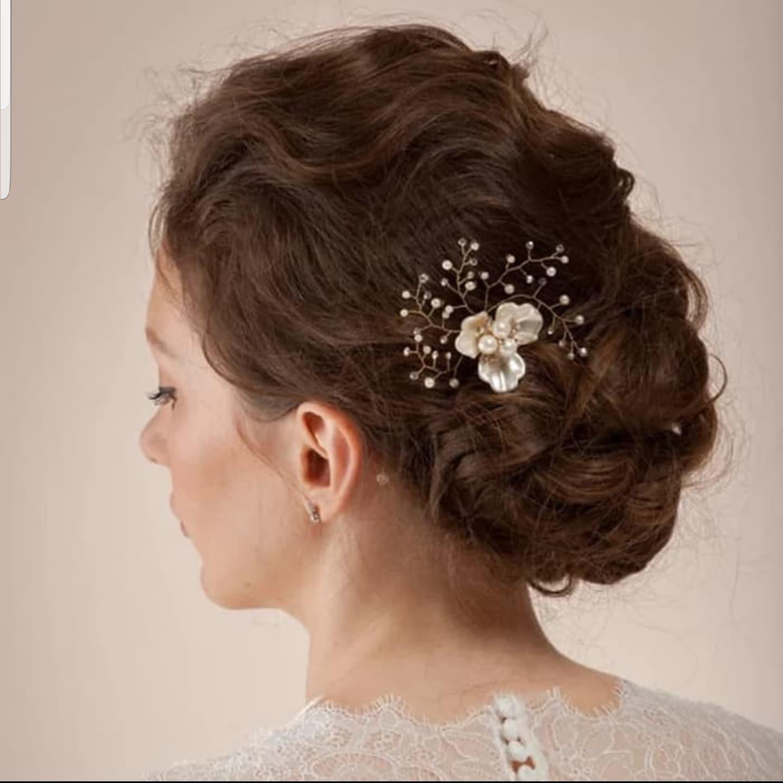 Hiasan Tusuk Sanggul Hair Pin Aksesoris Sanggul Pesta Pengantin H27 thumbnail