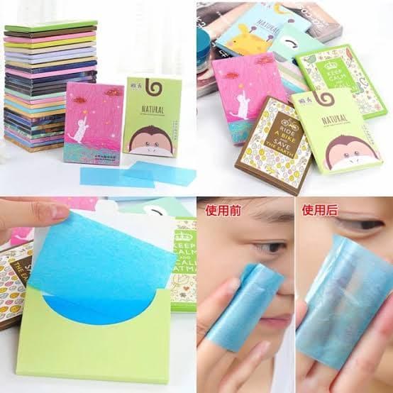 Kertas minyak wajah face oil control paper linen tisu muka thumbnail