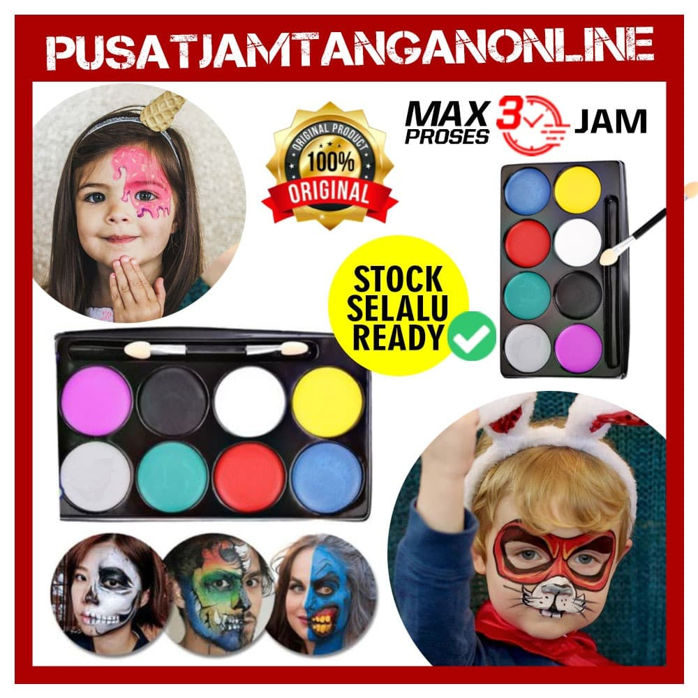 READY Cat face body painting lukis wajah cat lukis wajah thumbnail