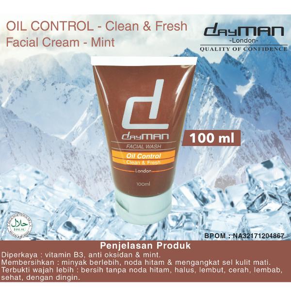 Dayman facial wash sabun cuci muka oil control clean & fresh 100 ML thumbnail