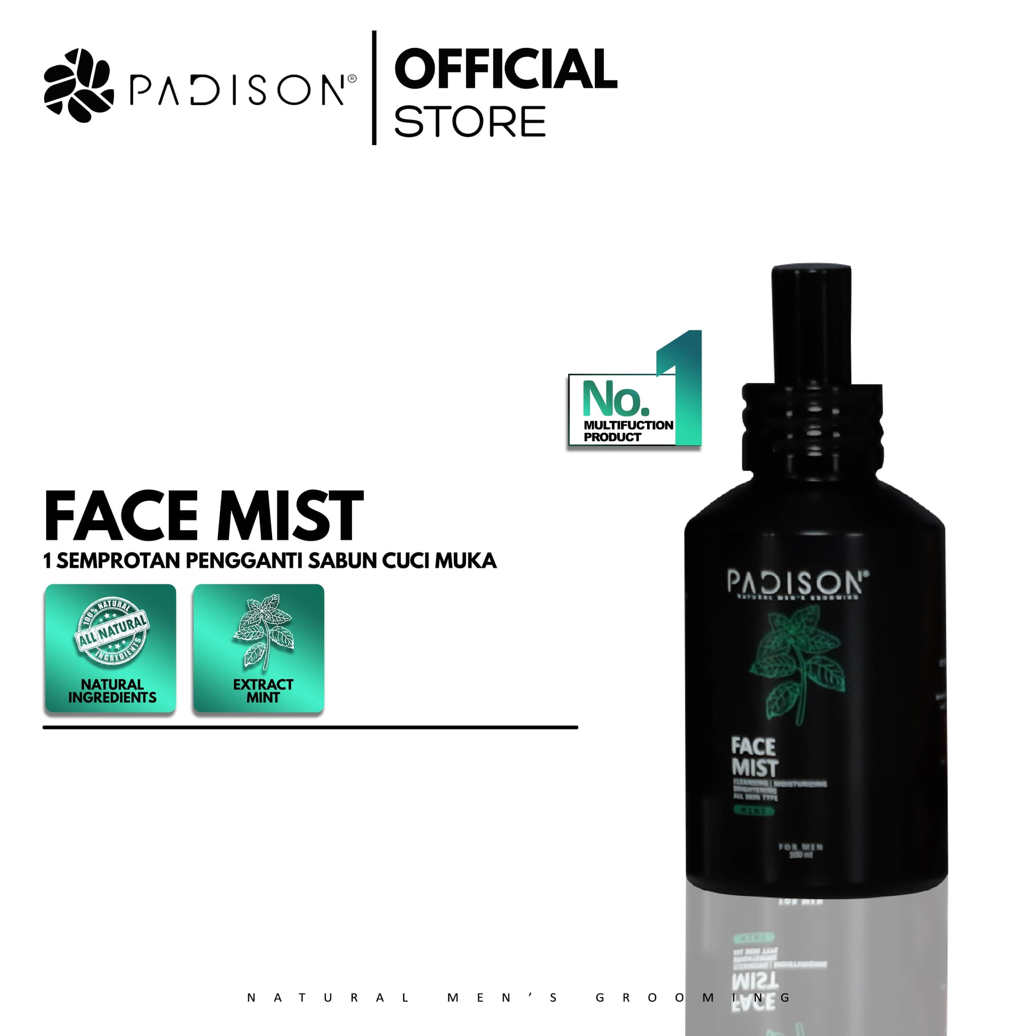 Face Mist 100ml with Extract Mint Pembersih muka semprot pria thumbnail