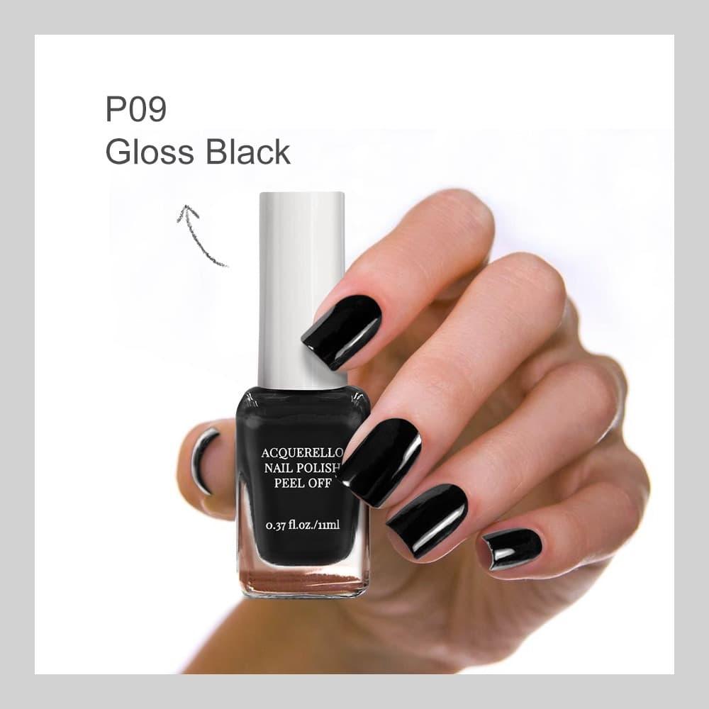 MINISO Kutek Cat Kuku Nail Polish Peel Off 11ml-black thumbnail