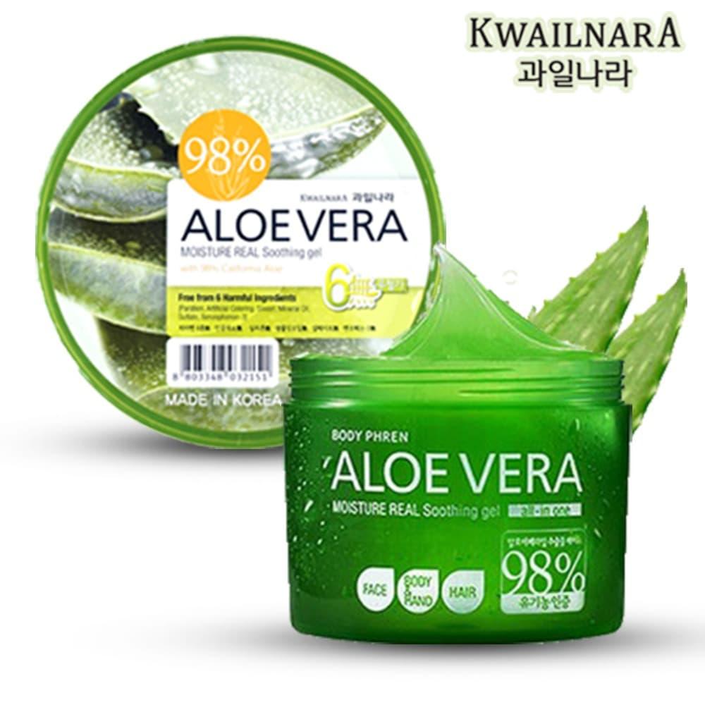 KWAILNARA 98% Aloe Vera Moisture Real Soothing Gel - Jar 300 ml thumbnail