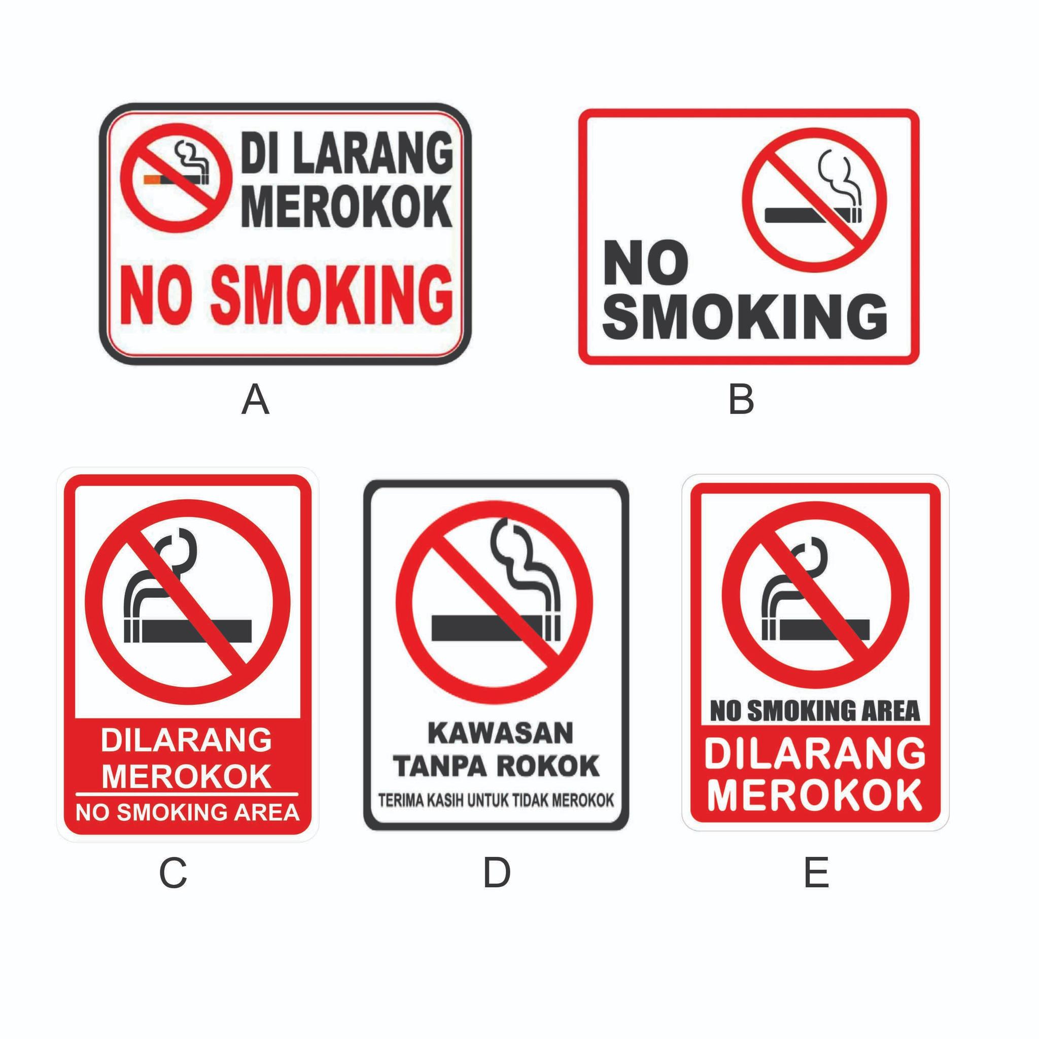 Jual Banner Dilarang Merokok 50x75 Kab Gresik Azrina Store Tokopedia