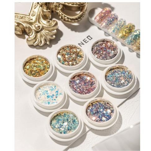 1 PCS Hexagonal Glitter Premium nail art Nail Glitter bubuk gliter thumbnail