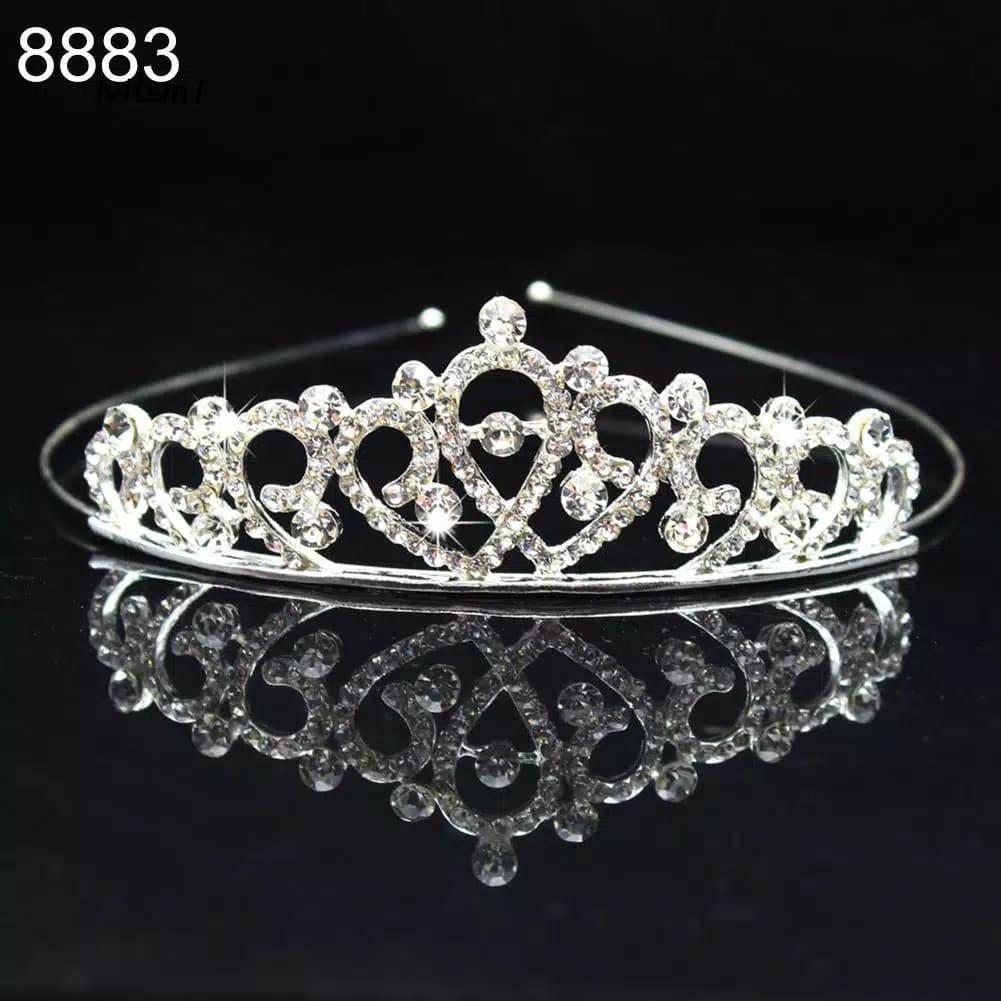 Tiara Princess Anak Kids Silver Crown Mahkota Anak Perempuan thumbnail