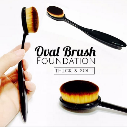 Oval Brush Make Up Oval Foundation Face Brush Oval Brush Blending thumbnail