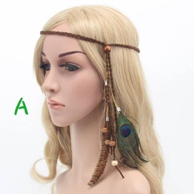 Hiasan Kepala Bulu Indian Bandana Rambut Bohemian Boho Headband thumbnail