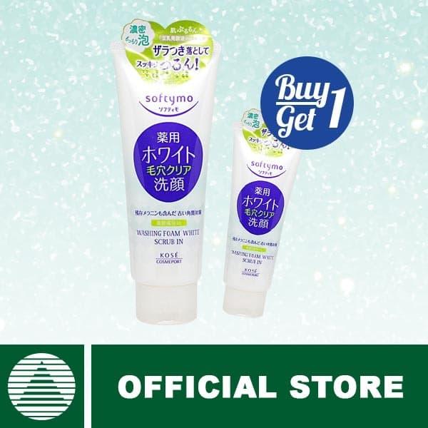 Kose Cosmeport Softymo Washing Foam White Scrub 150gr Buy 1 Get 1 thumbnail