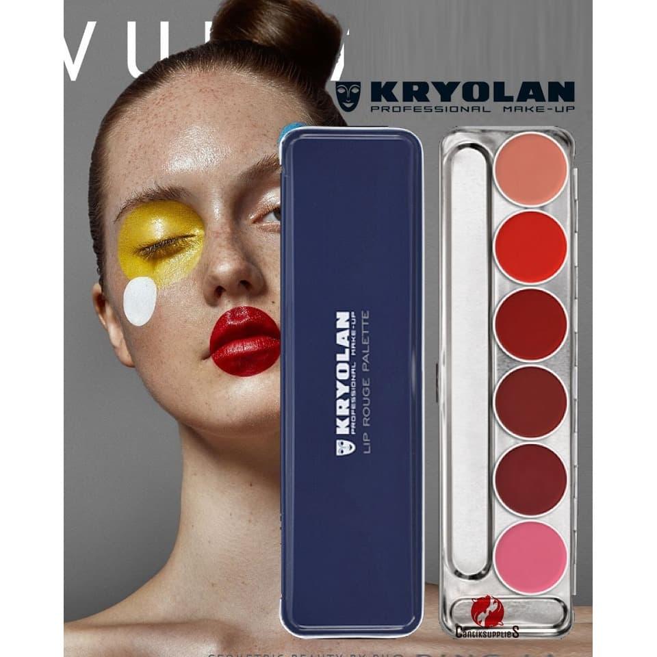 KRYOLAN DERMACOLOR Lip Rogue Palette Lipstik Kryolan Lipstik Palet - ISI 6 thumbnail
