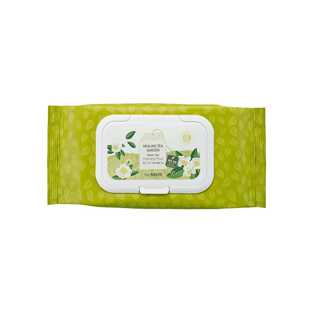The Saem Healing Tea Garden Green Tea Cleansing Tissue 60 Lembar thumbnail