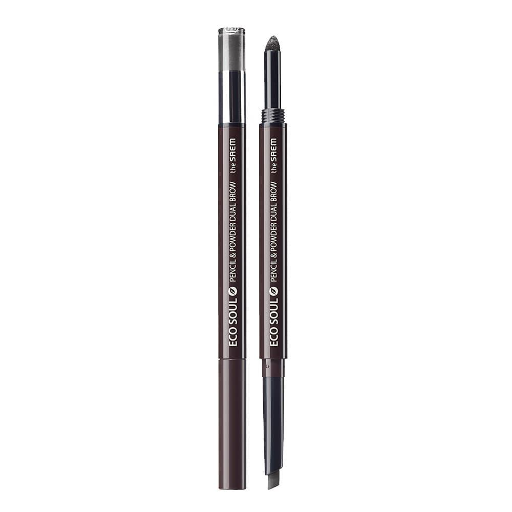 The SAEM Eco Soul Pencil & Powderdual brow 03.black gray thumbnail