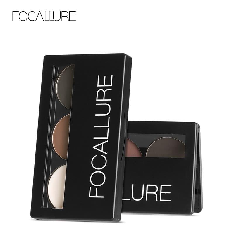 FOCALLURE Eyebrow Powder Palette with Brush Mirror FA04 - 3 Colours - FA04-01 thumbnail