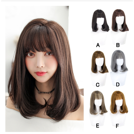 Wig Wanita Berponi Rambut Wig Wanita (Cew2) thumbnail