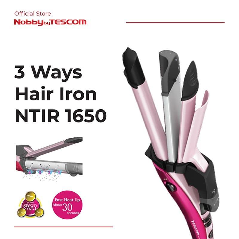 Tescom Catokan Pengeriting Rambut - 3 Ways Hair Iron NTIR1650 thumbnail